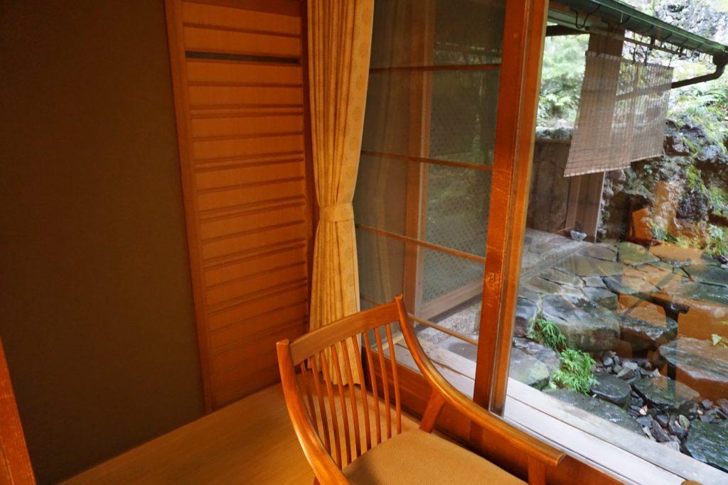 Seating area in room at Nishimuraya Honkan