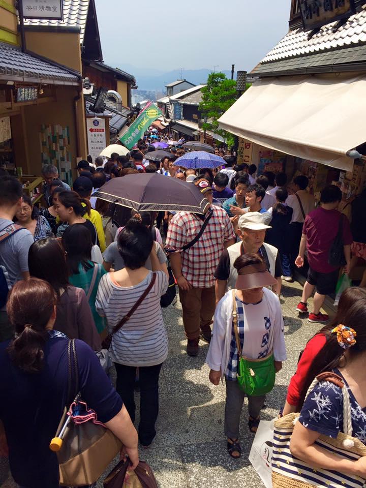 Crowded street in Kyoto - Sannezaka Ninezaka