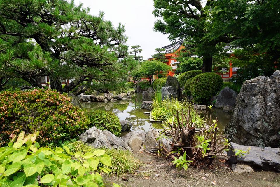 Japanese Garden at Sanjusangendo Hall - Kyoto, Japan