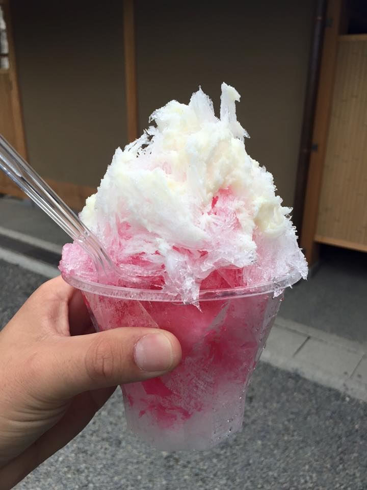Strawberry shave ice in Kyoto