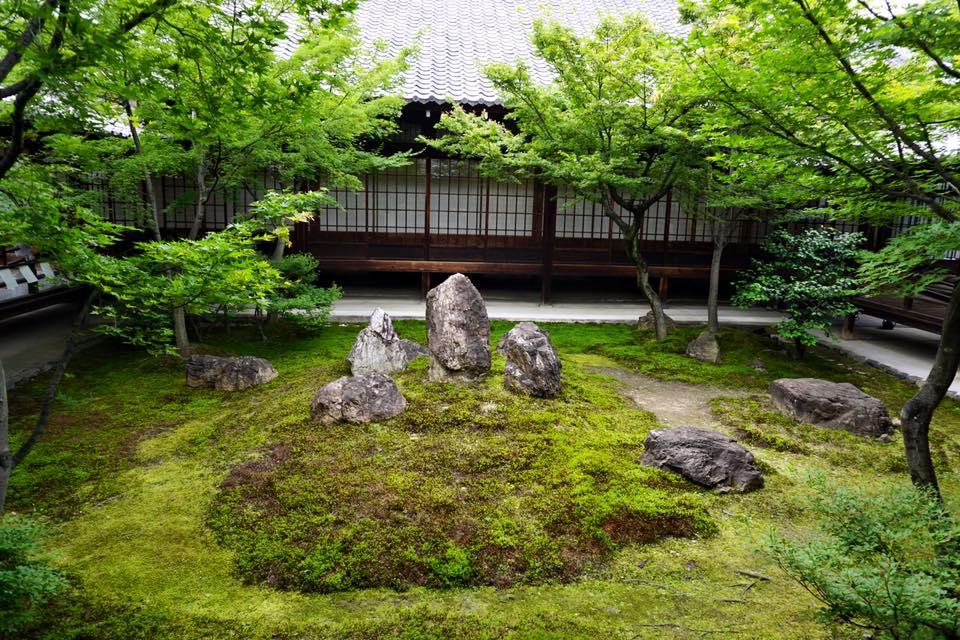 Garden at Kenninji Temple in Kyoto