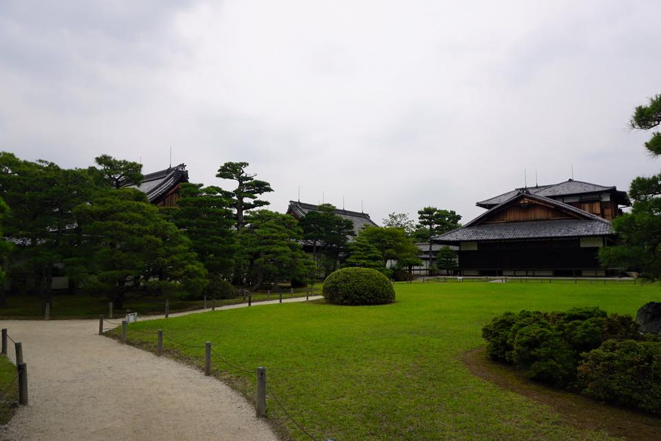 Garden with Japanese-style house at Okochisanso Garden - Kyoto, Japan