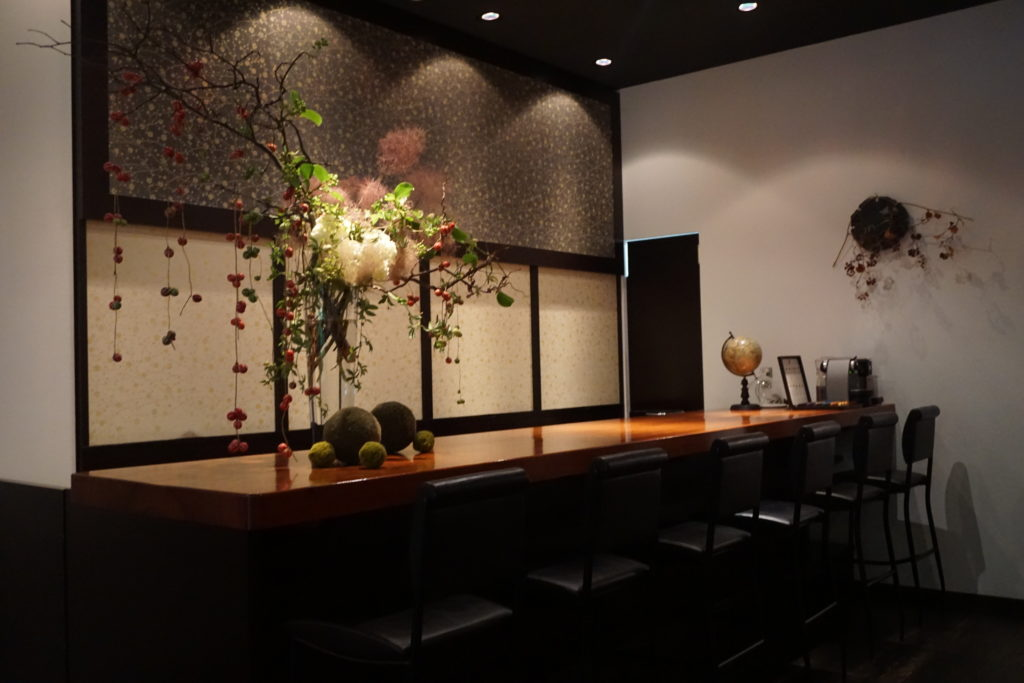 Bar area of Hotel Mume