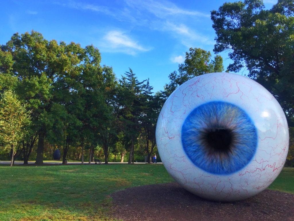 Eye sculpture at Laumeier Sculpture Park