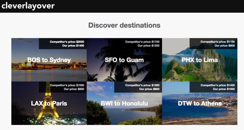 Cleverlayover travel website