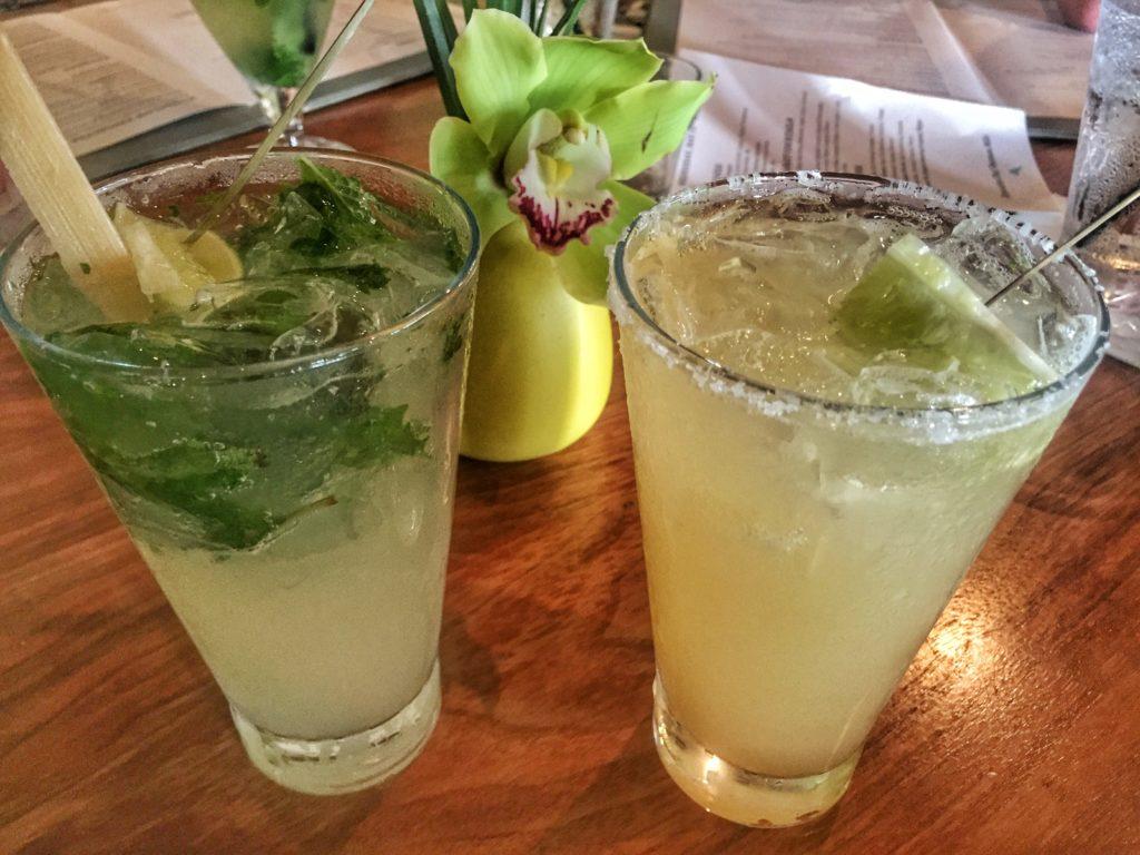 Mojito and Margarita from Tommy Bahama Restaurant - Sarasota, Florida   St. Armands Circle   Lido Key   Dining Sarasota