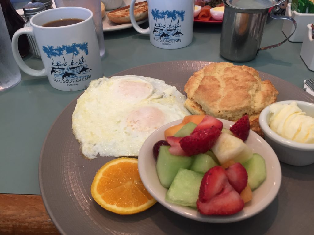 Breakfast at The Blue Dolphin Cafe in Sarasota