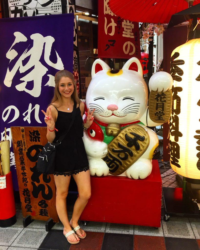 Sennichimae Doguyasuji Shopping Street in Osaka, Japan
