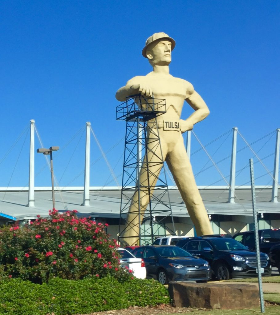 Golden Driller Statue in Tulsa