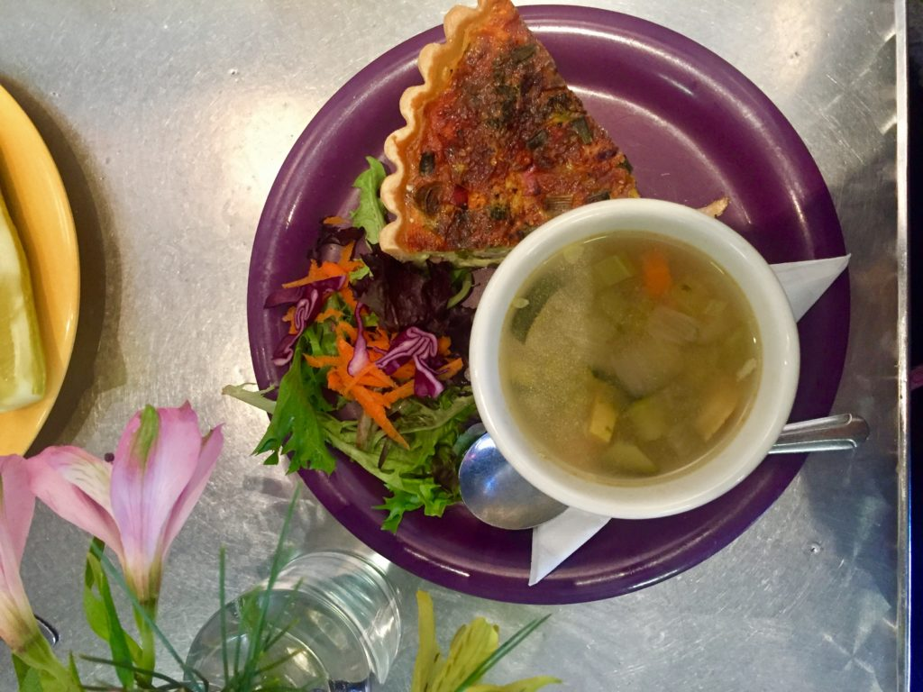 Quiche and soup at Queenies in Tulsa