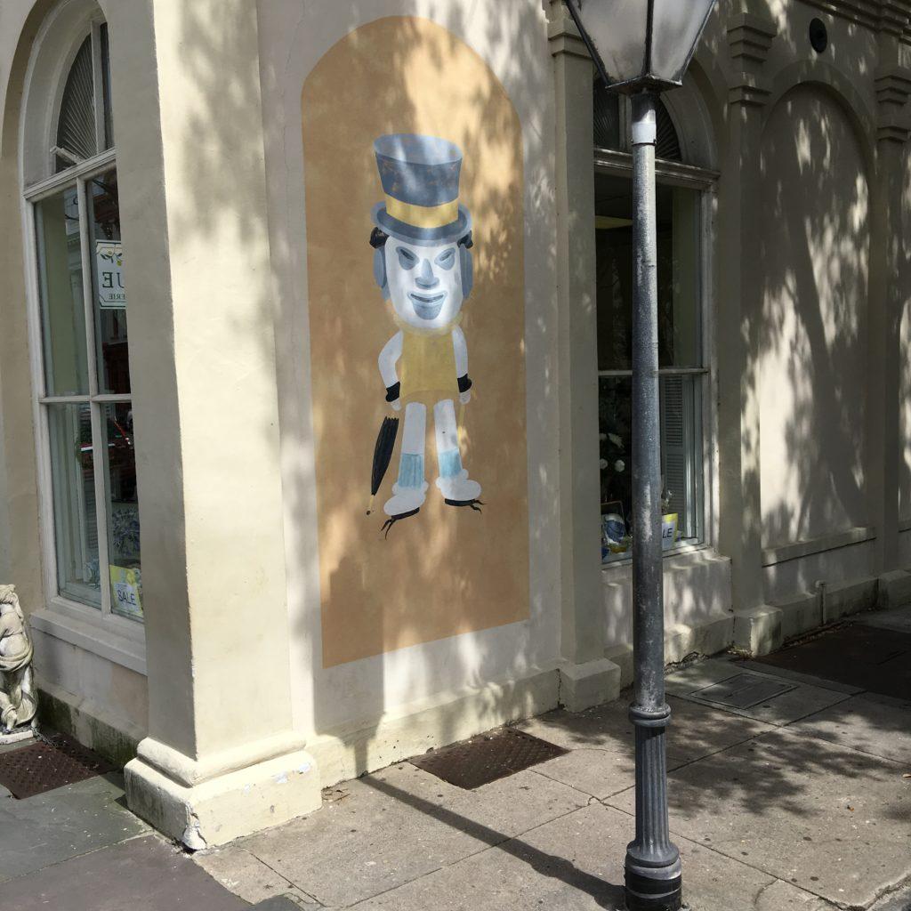 Charleston Hat Man - coolest street art