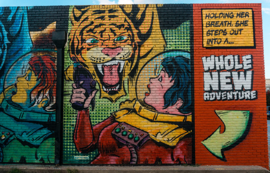 Meanwhile Mural in Bentonville, Arkansas