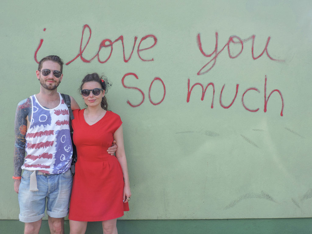 I love you so much wall in Austin, Texas - coolest street art in the world