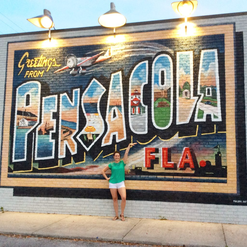 "Greetings From Pensacola"" mural by Ashton Howard & Evan Levin"