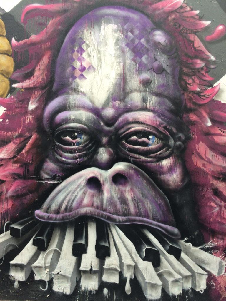 Gorilla Street art mural in Melbourne