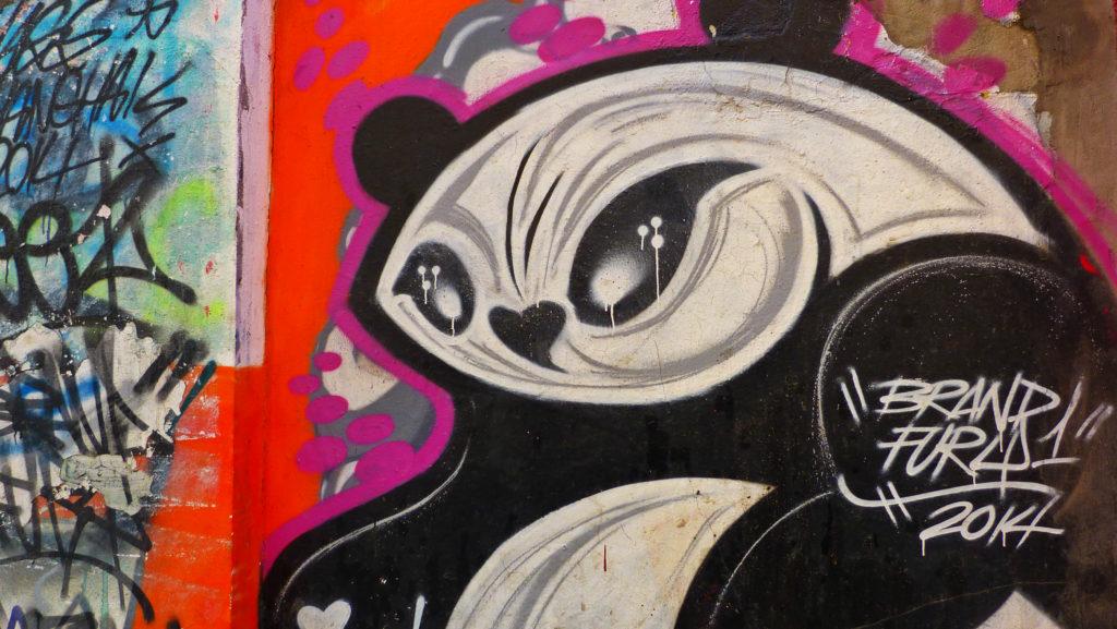 Panda coolest street art mural in Shanghai