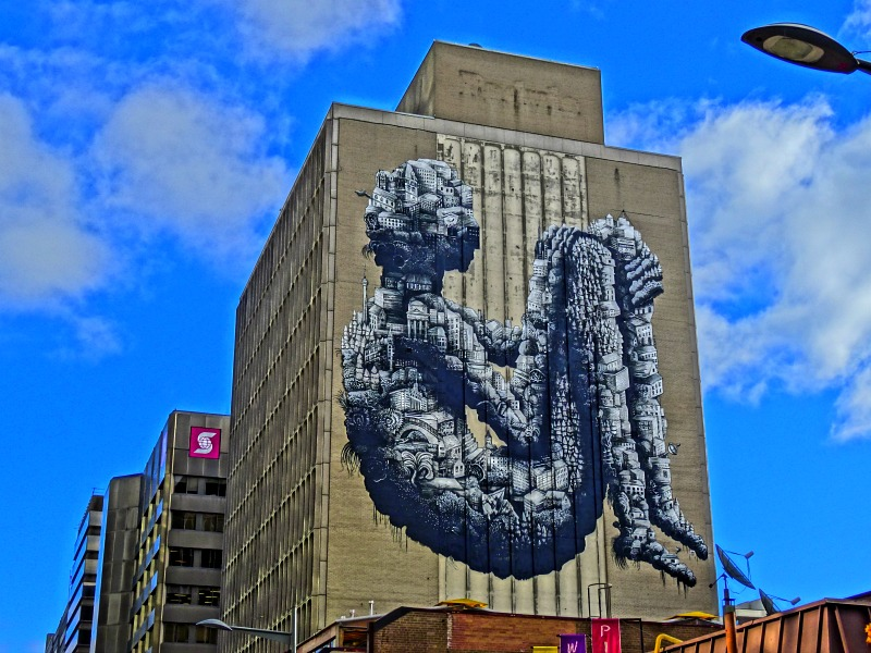 City Man mural in Toronto - coolest street art in the world