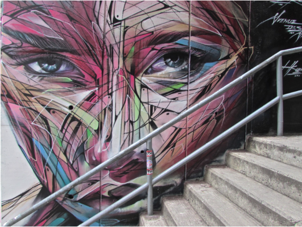 """""""Multi-coloured Woman's Face"""" by Hopare in Hong Kong"""