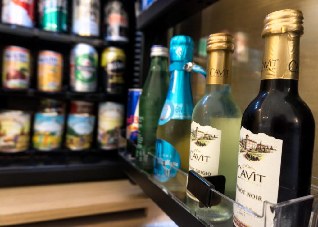 Mini bar at 21c Museum Hotel Bentonville