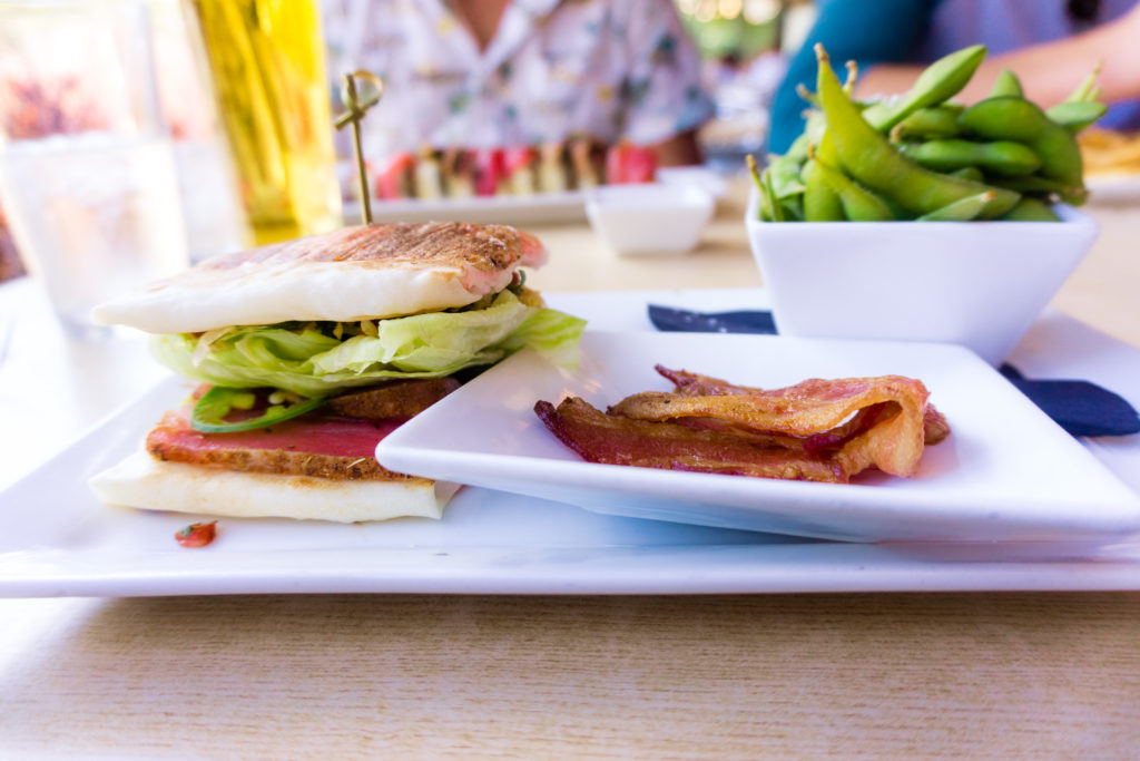 Burgushi (sushi burger) from The Cowfish in Charlotte - places to eat in Charlotte
