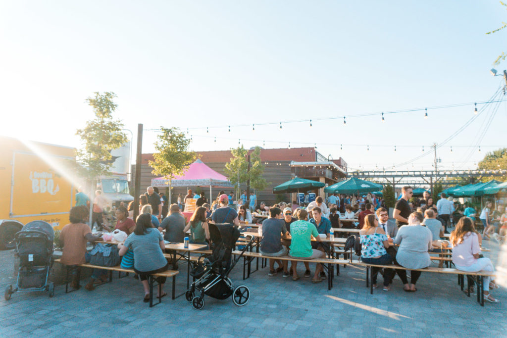 Food truck Friday event at Sycamore Brewing in Charlotte