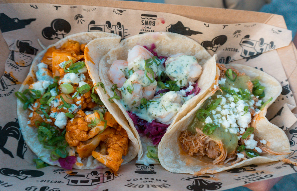Tacos from food truck Friday event at Sycamore Brewing in Charlotte - places to eat in Charlotte