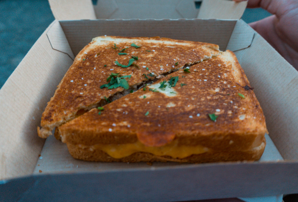 Grilled Cheese from Food truck Friday event at Sycamore Brewing in Charlotte - places to eat in Charlotte