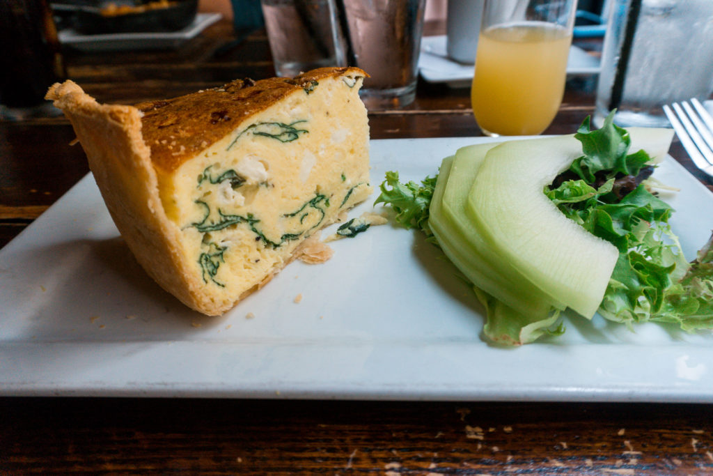 Quiche from Dandelion Market in Charlotte - places to eat in Charlotte