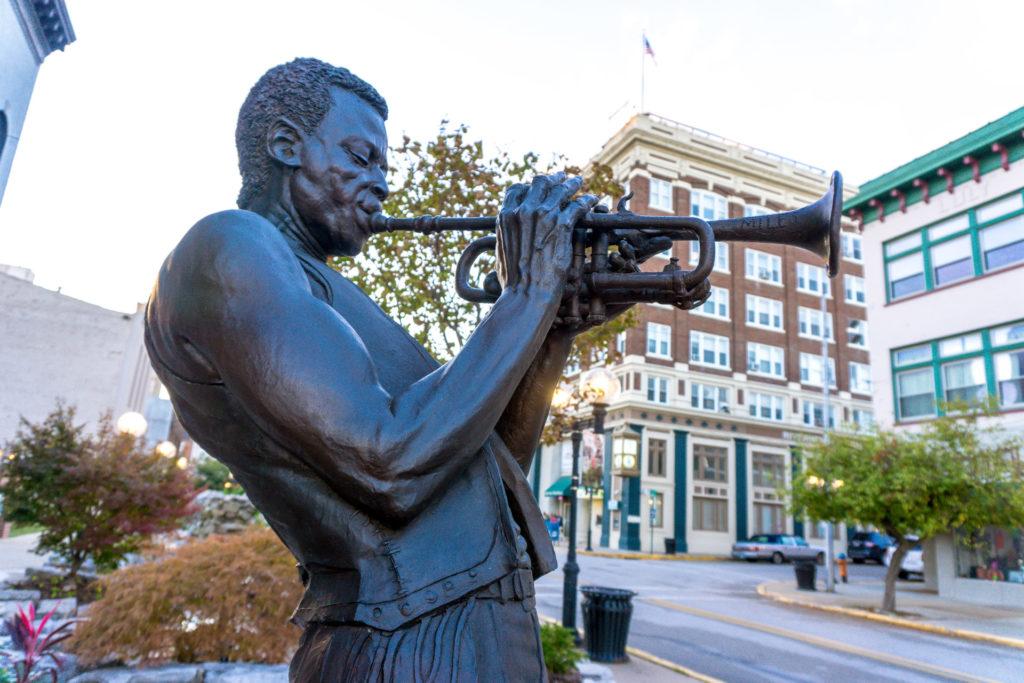 Miles Davis Statue in Alton