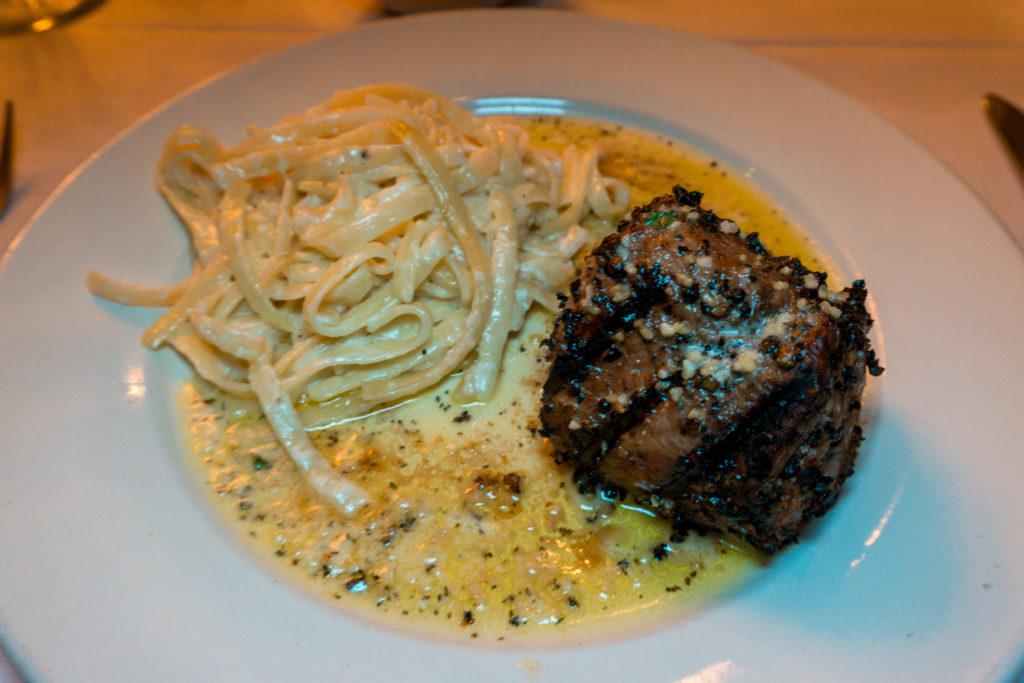 Pepperloin steak at Tony's Restaurant in Alton