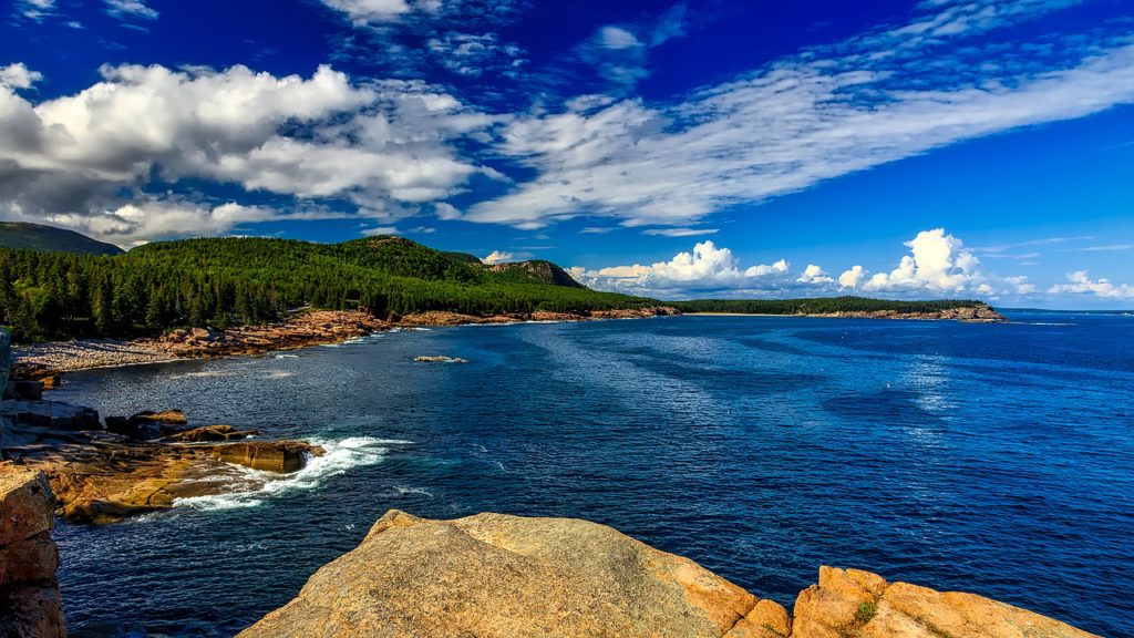 Acadia National Park in Maine east coast USA road trip.