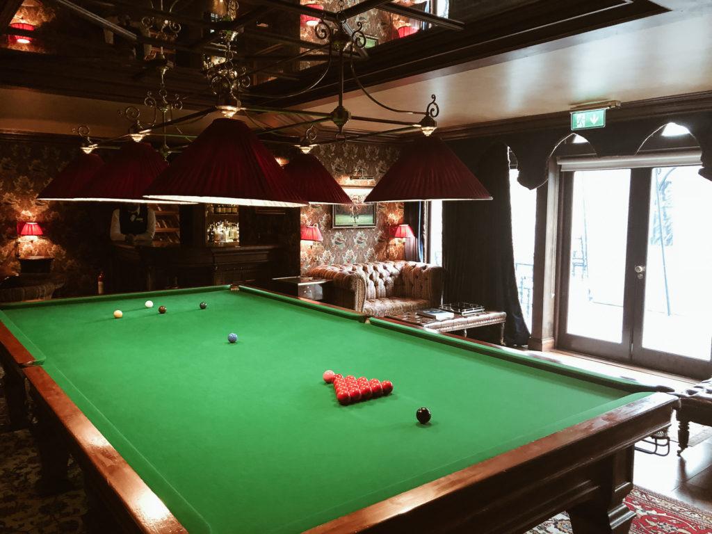 A billiards table
