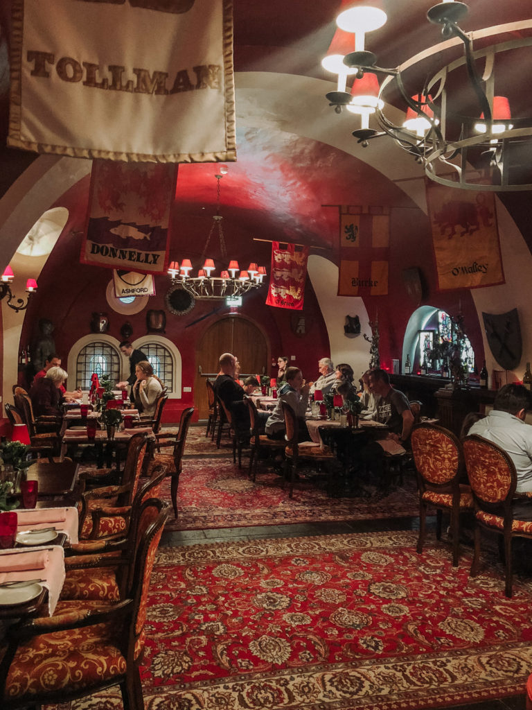 The Dungeon Dining Room at Ashford Castle
