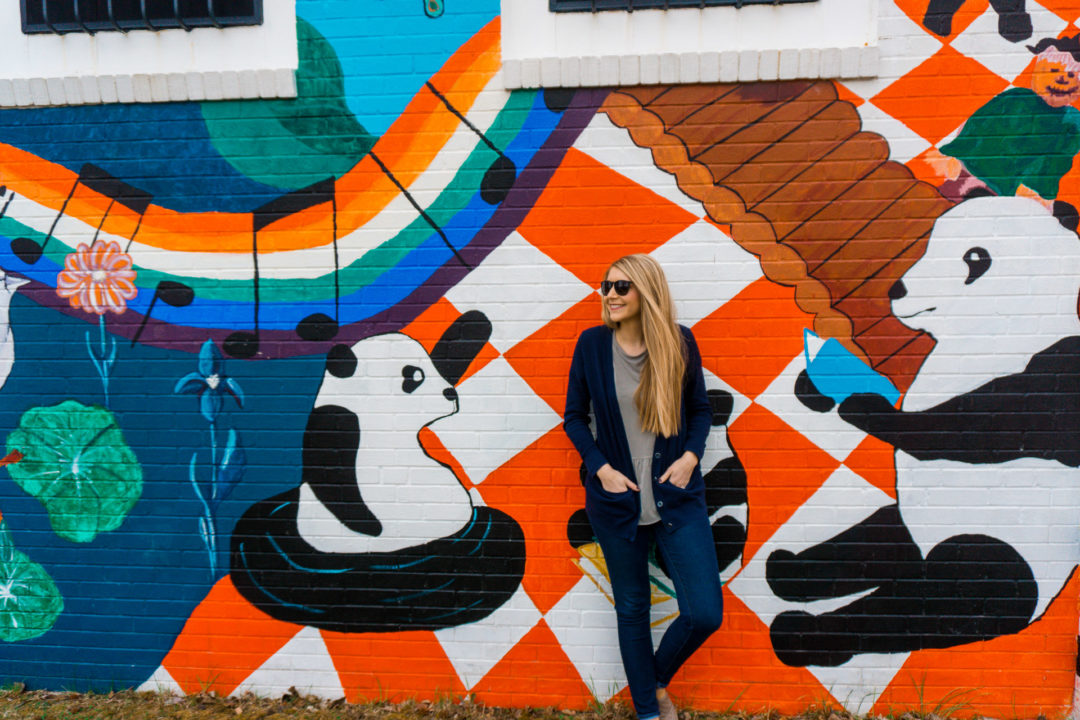 Pandatopia: Somewhere Over the Rainbow mural in Kansas City, Kansas