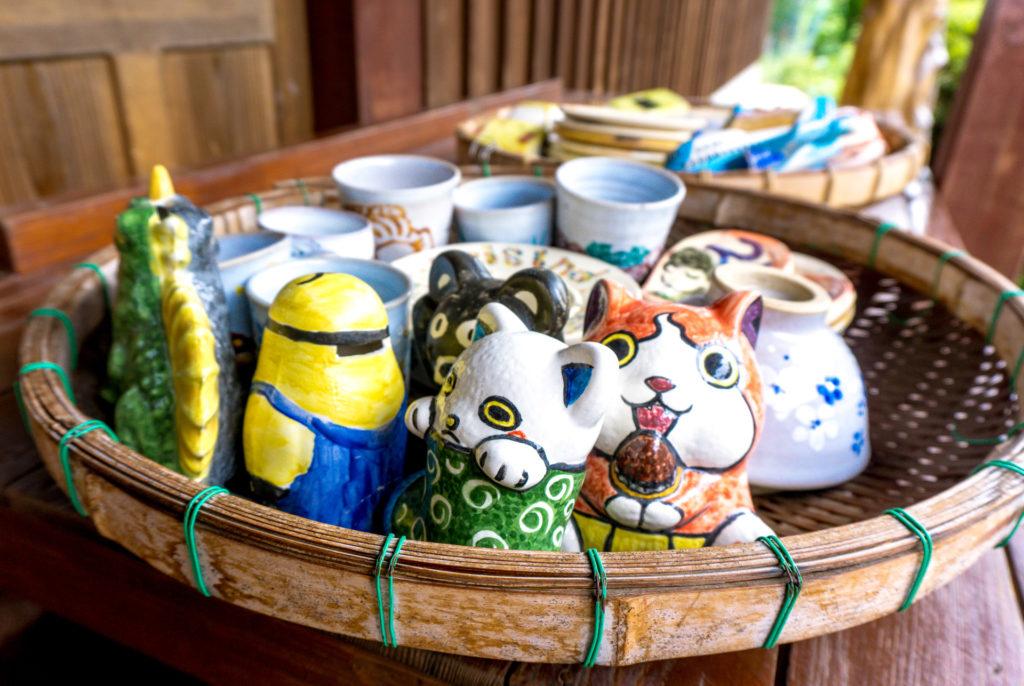 Pieces of pottery at Nokonoshima Island - Fukuoka