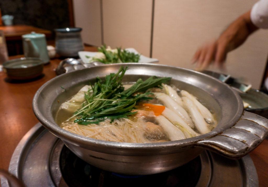 Chicken hot pot from Hanamidori - Fukuoka
