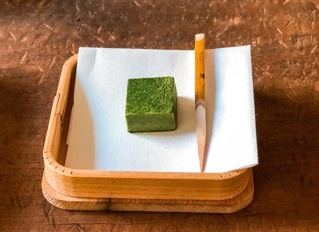 Matcha silken tofu treat from YOROZU - Fukuoka