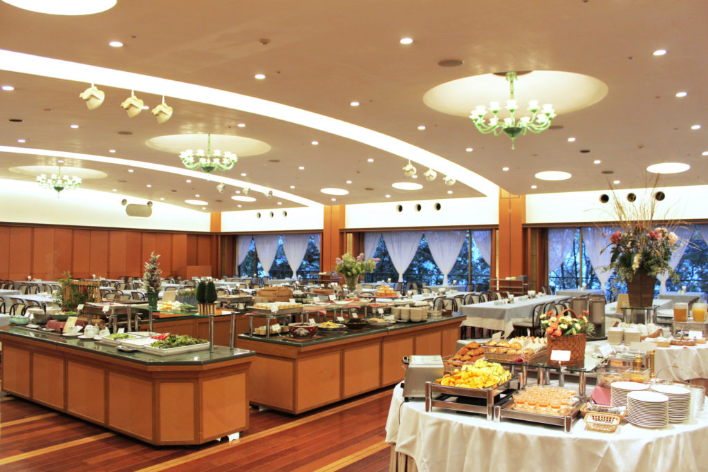 Breakfast buffet area of Nishimuraya Hotel Shogetsutei