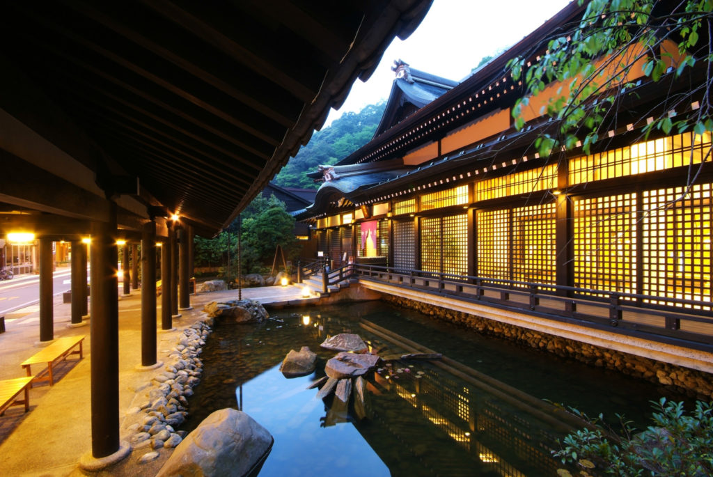 One of the public onsen in Kinosaki Onsen