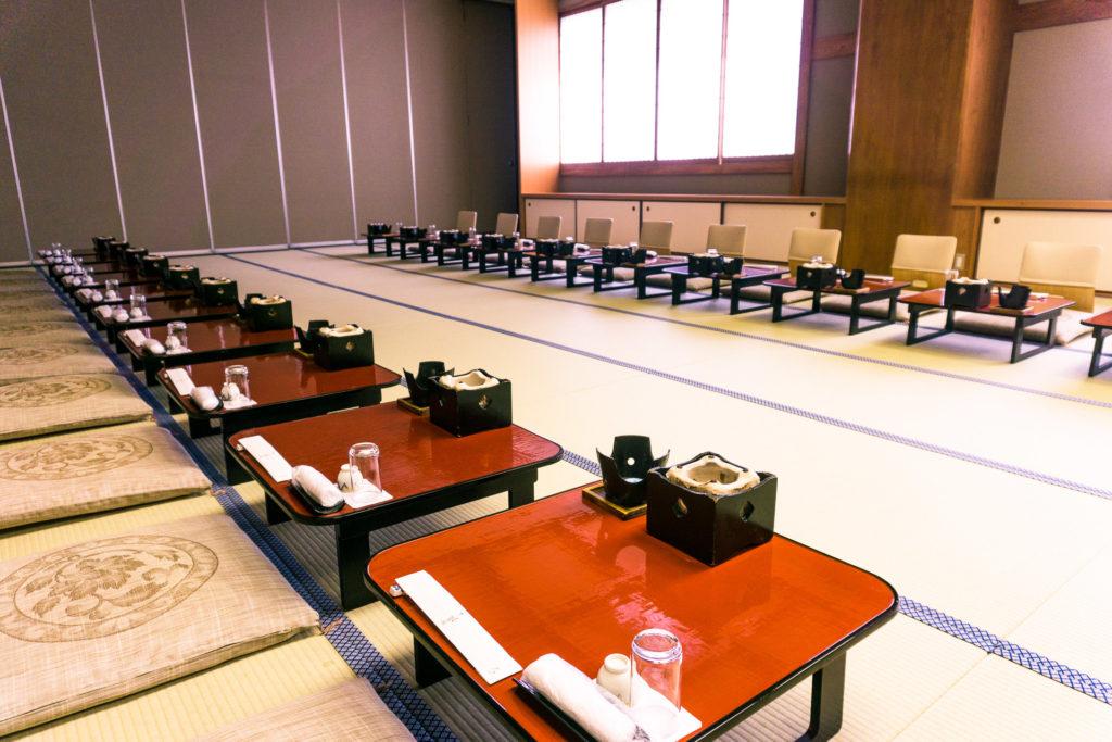 Dining Hall of Nishimuraya Hotel Shogetsutei - Kinosaki Onsen, Japan
