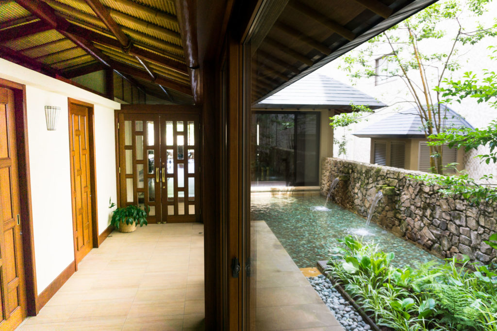 Entrance to private onsen area.