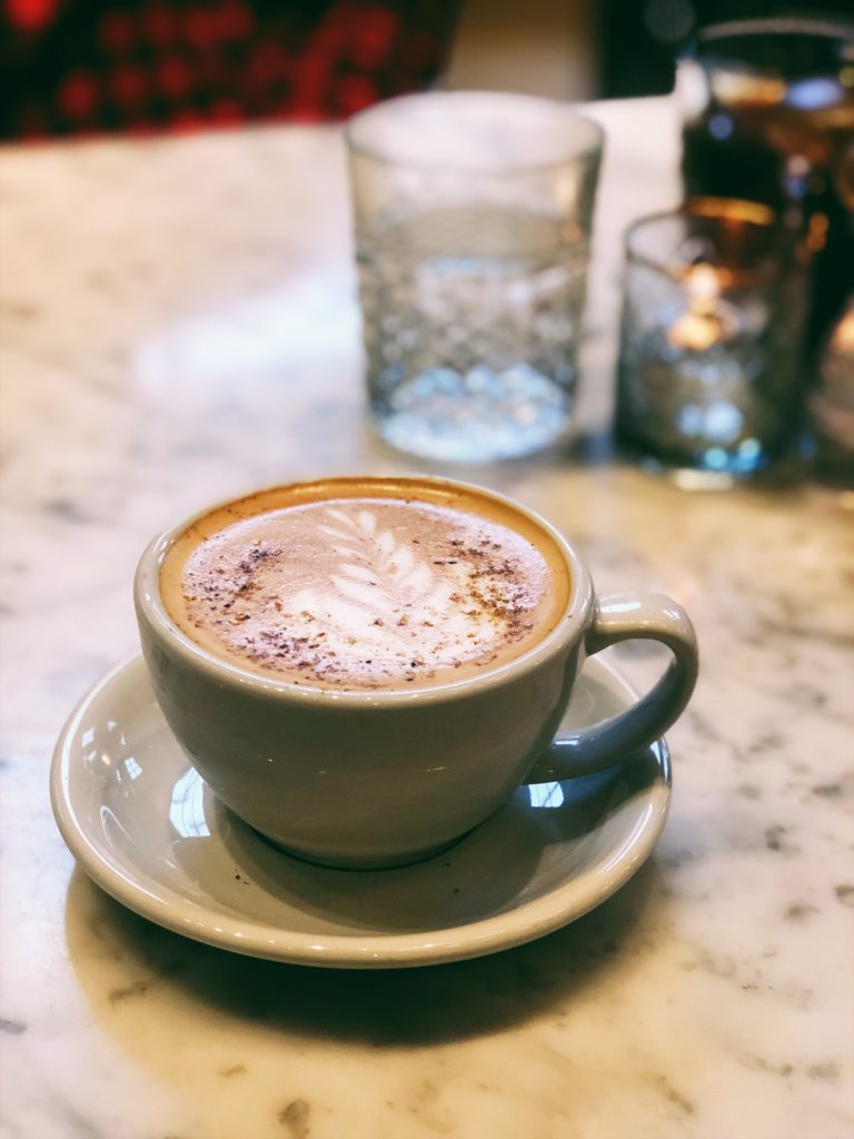 Pistachio Latte at The Jones Assembly in OKC - Couples Getaway in Oklahoma