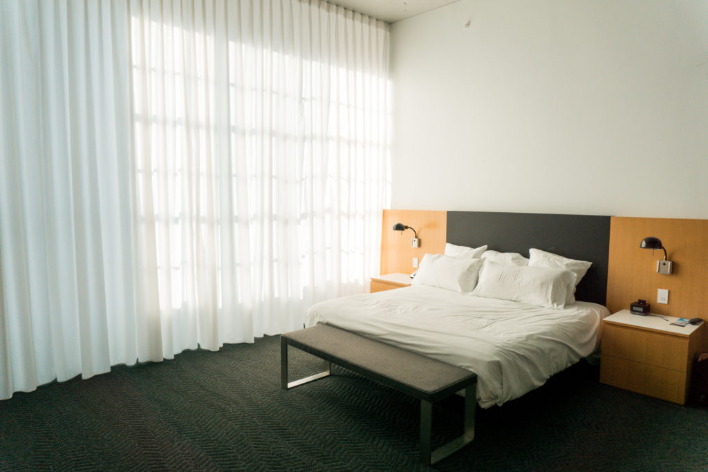 Bed at the 21c Museum Hotel OKC