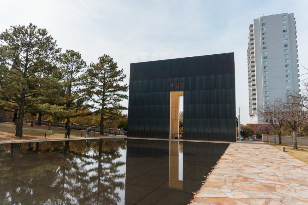 Water Feature and Memorial outside of the Oklahoma National Memorial & Museum