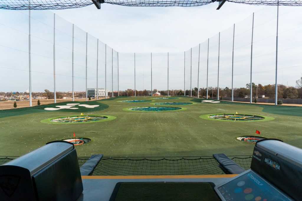 View of Topgolf in Oklahoma City.