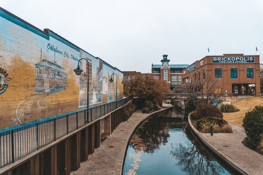 View of Bricktown in Oklahoma City