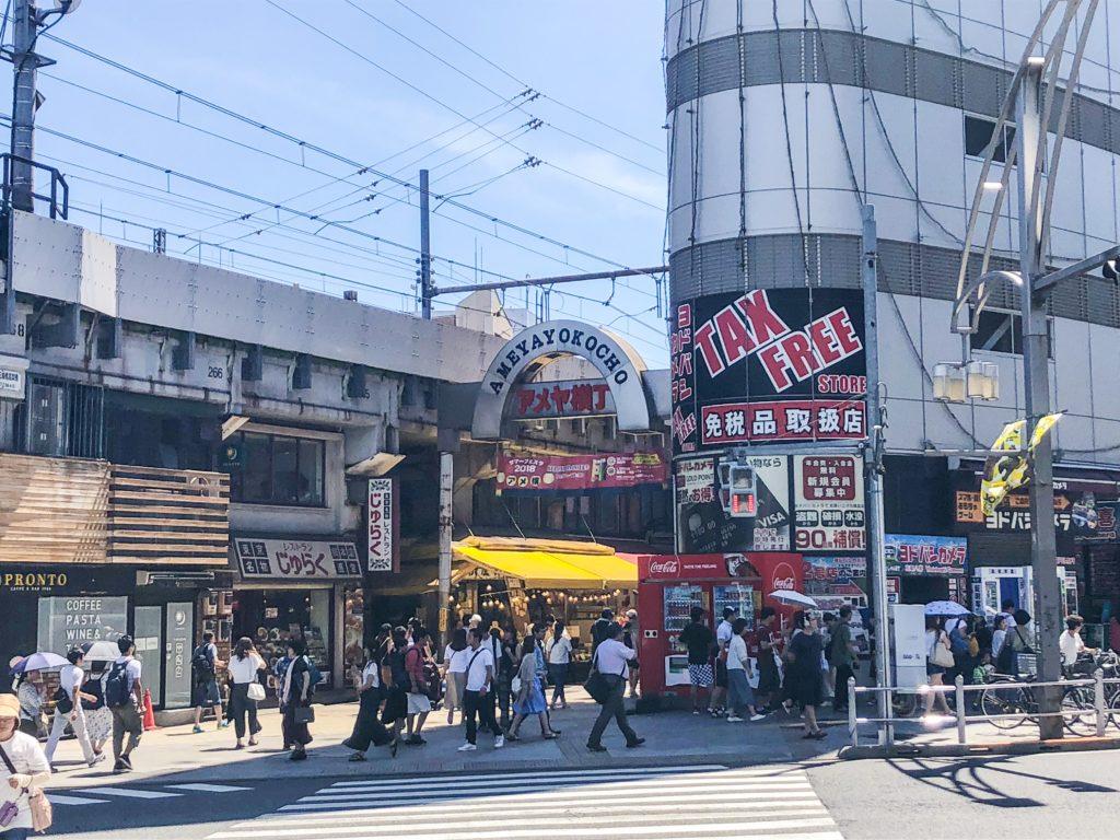 Entrance to Ameyayokocho Shopping Street - Tokyo