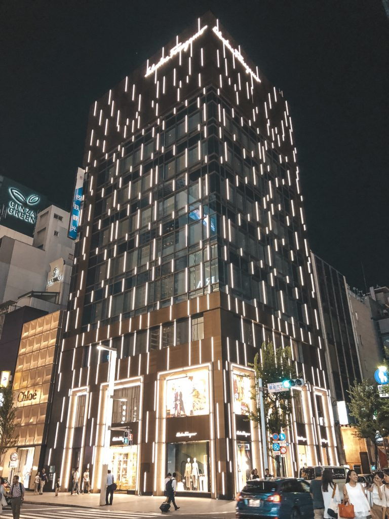 Large department store building in Ginza (Tokyo)