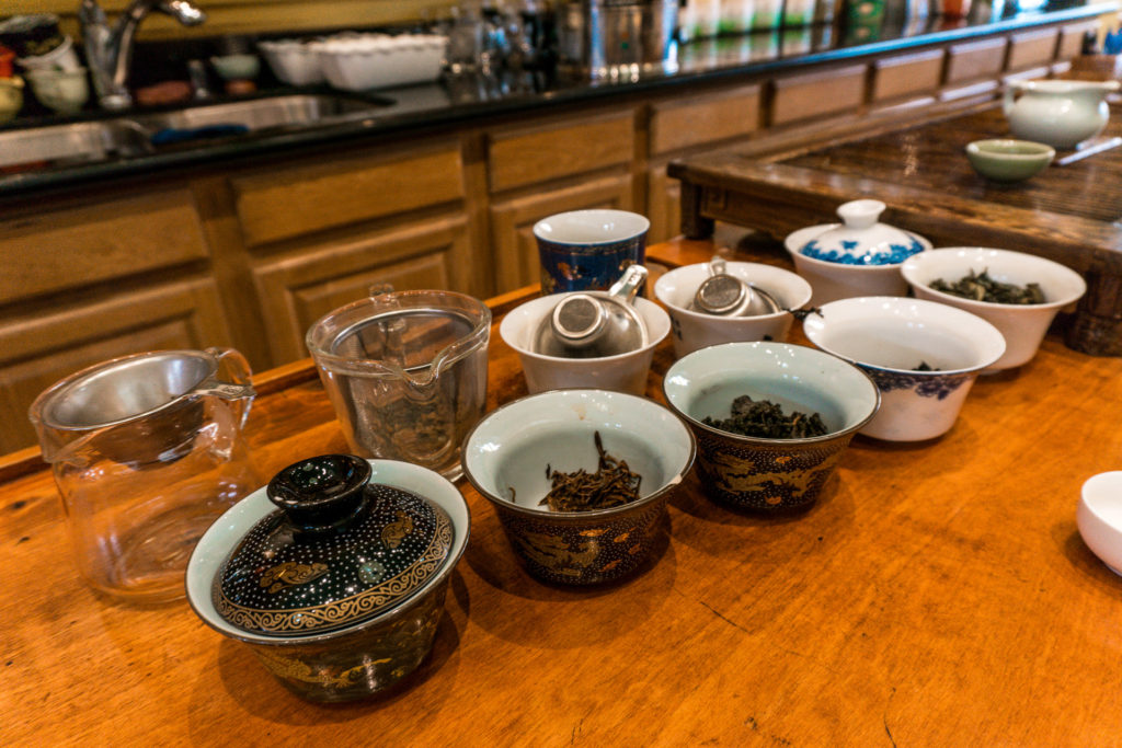 Tea cups with tea leaves inside - vital tea life in Chinatown San Francisco