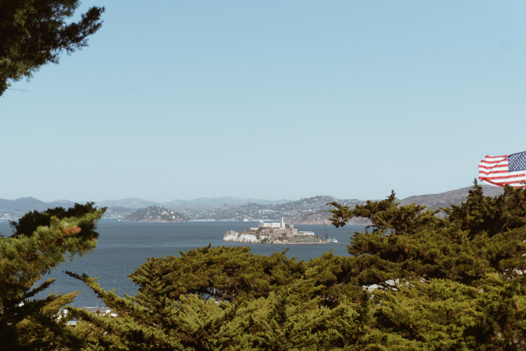 View of Alcatraz Island in San Francisco